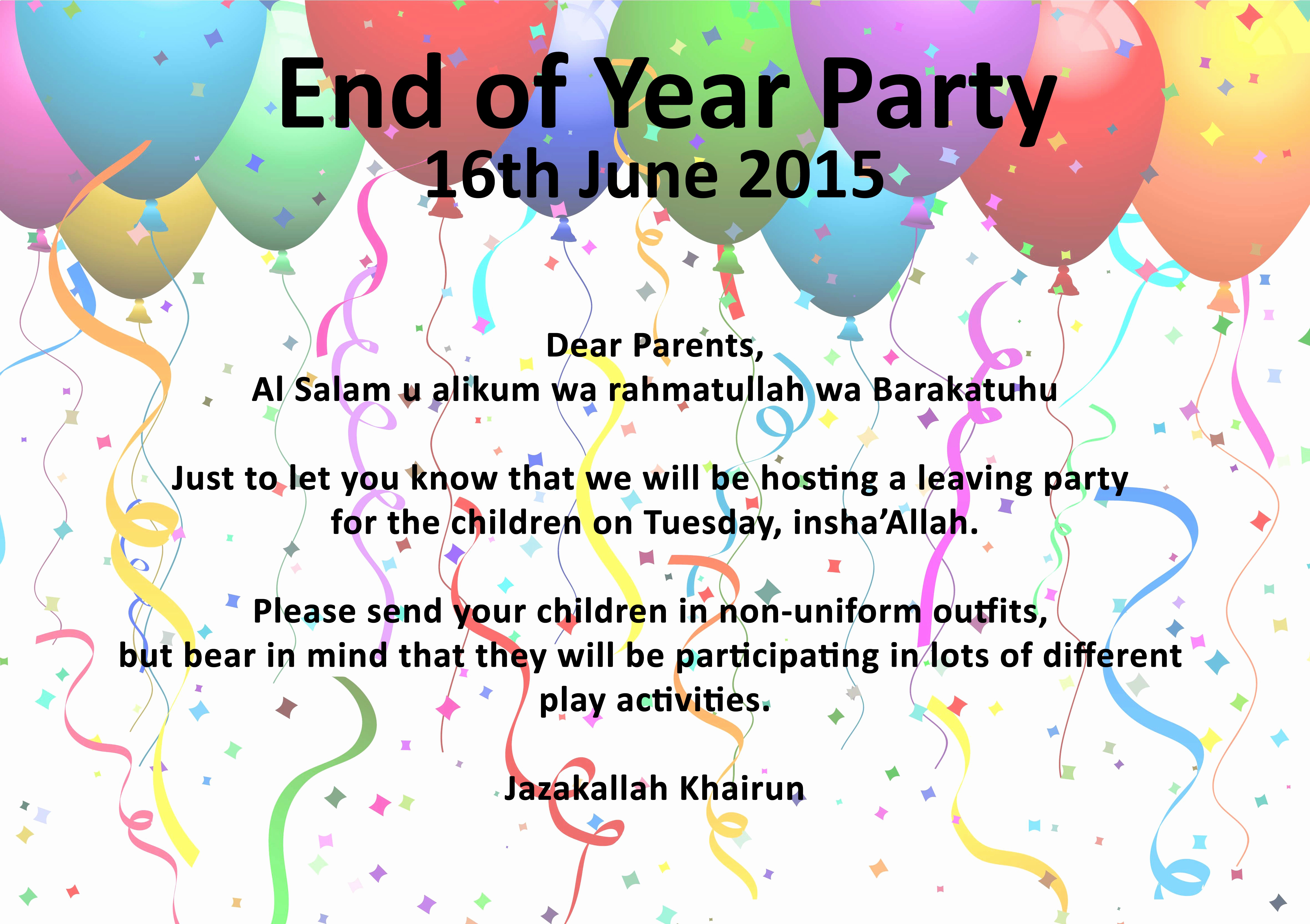 Year End Party Invitation Templates New End Of Summer Party Free Printable Affordable Year End