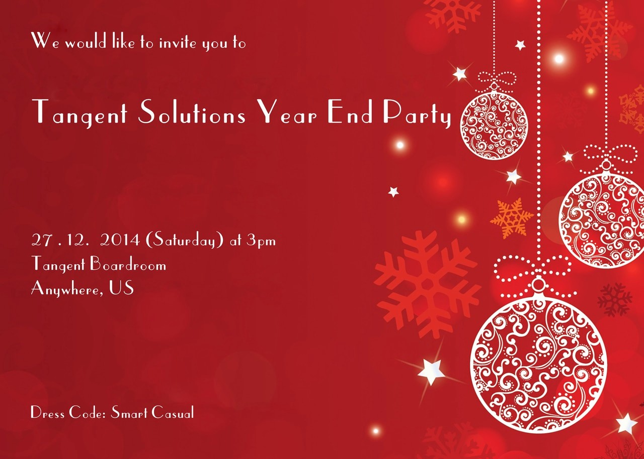 Year End Party Invitation Templates Unique Pany Year End Christmas Party Invitations