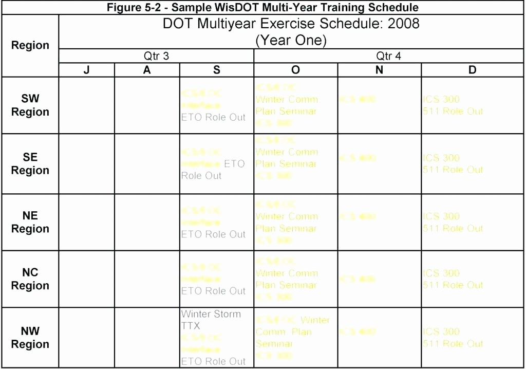 Yearly Work Schedule Template Excel Awesome Army Training Schedule Template – asctech