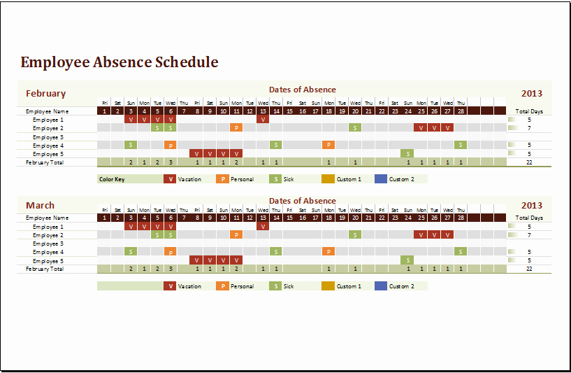 Yearly Work Schedule Template Excel Awesome Leave Tracker Excel Template 2016