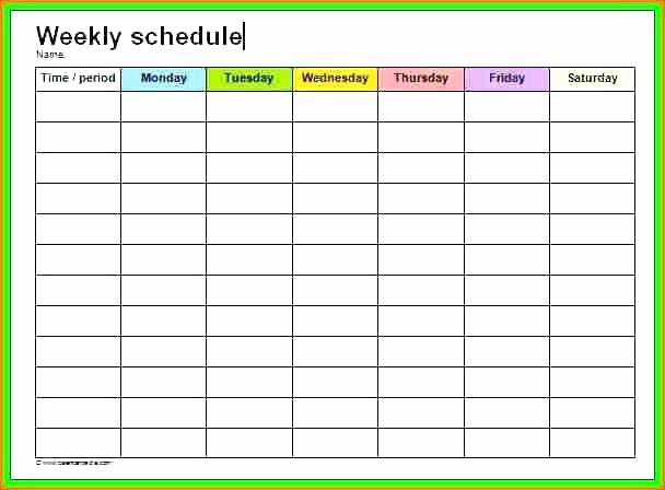 Yearly Work Schedule Template Excel Elegant Weekly Schedule Calendar Template Yearly Printable Work