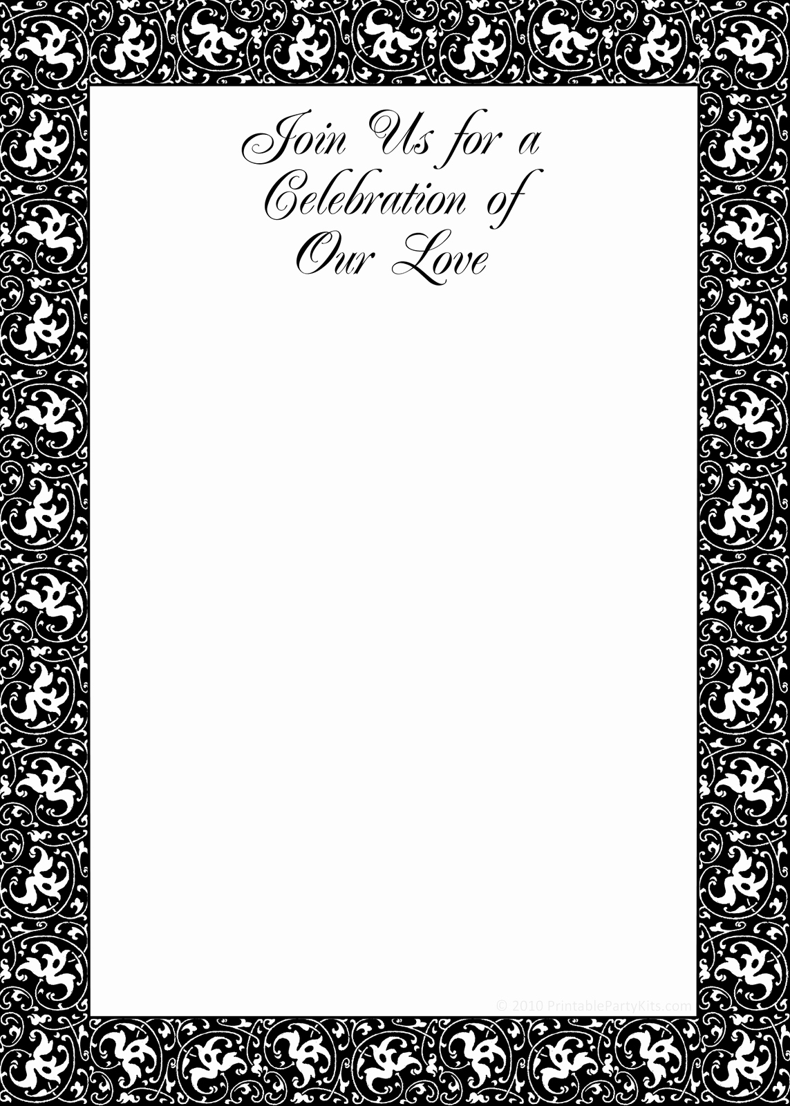 You Re Invited Template Word Awesome Free Party Invitation Templates Printable Black and White