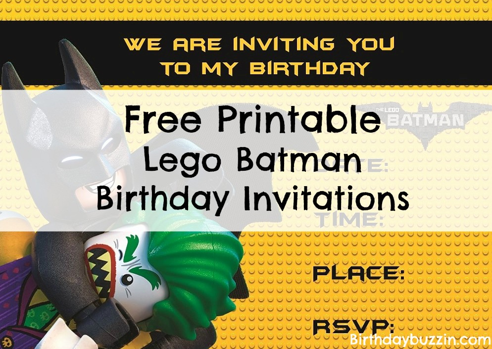 You Re Invited Template Word Awesome Free Printable Lego Batman Birthday Invitations