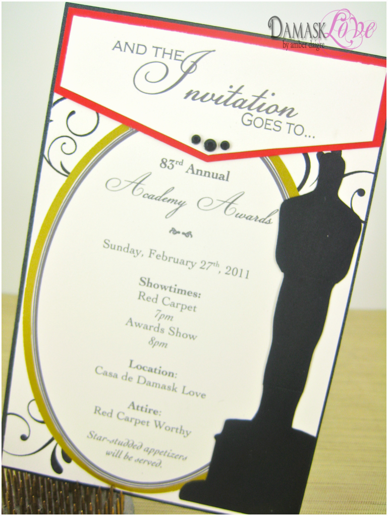 You Re Invited Template Word Beautiful Academy Awards Party