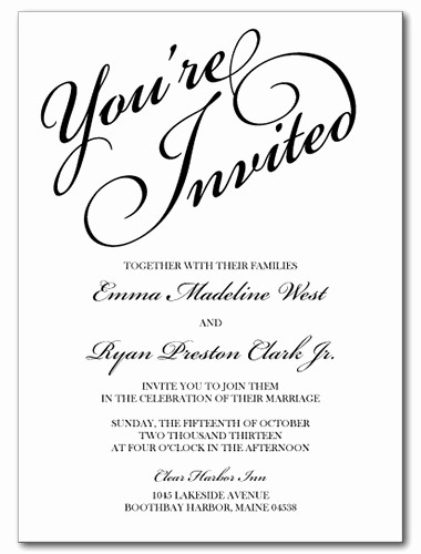 You Re Invited Template Word Beautiful Wedding Invitations You Re Invited Invitation