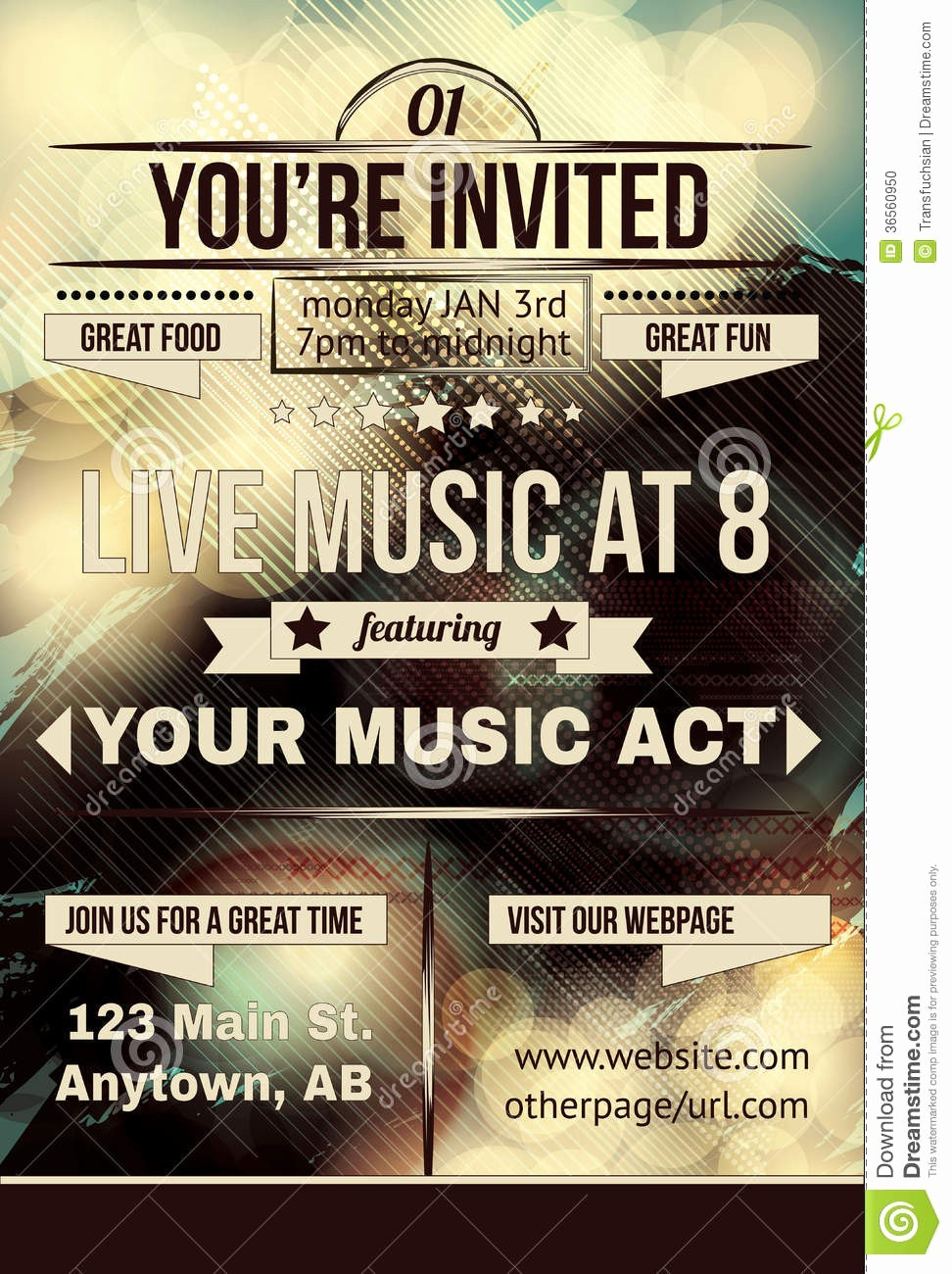 You Re Invited Template Word Elegant Invitation Flyer Template