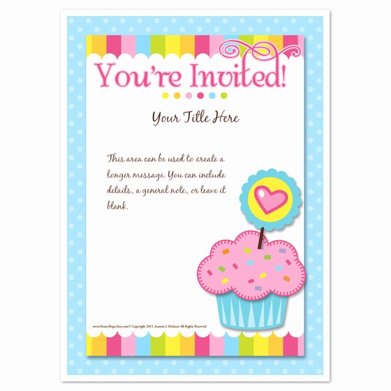 You Re Invited Template Word Lovely You Re Invited Cupcake Invitations & Cards On Pingg