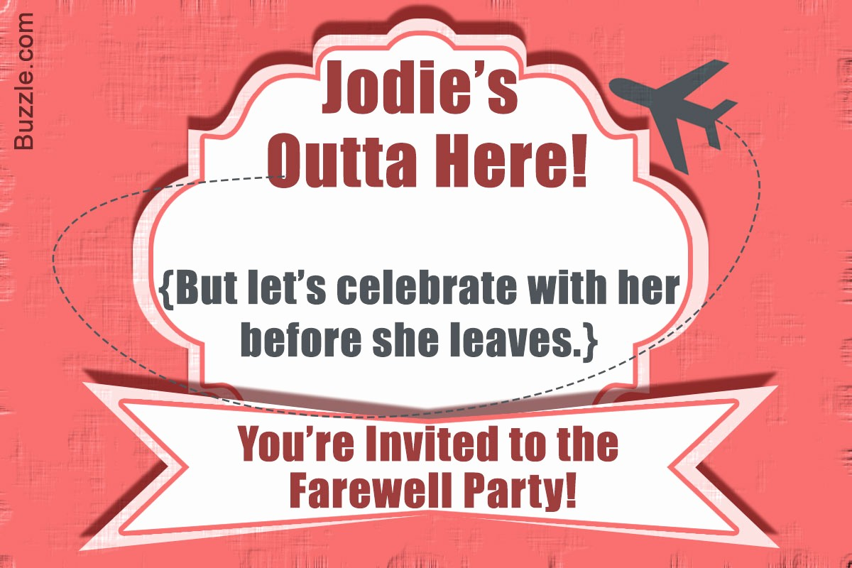You Re Invited Template Word Luxury 10 Farewell Party Invitation Wordings to Bid Goodbye In Style