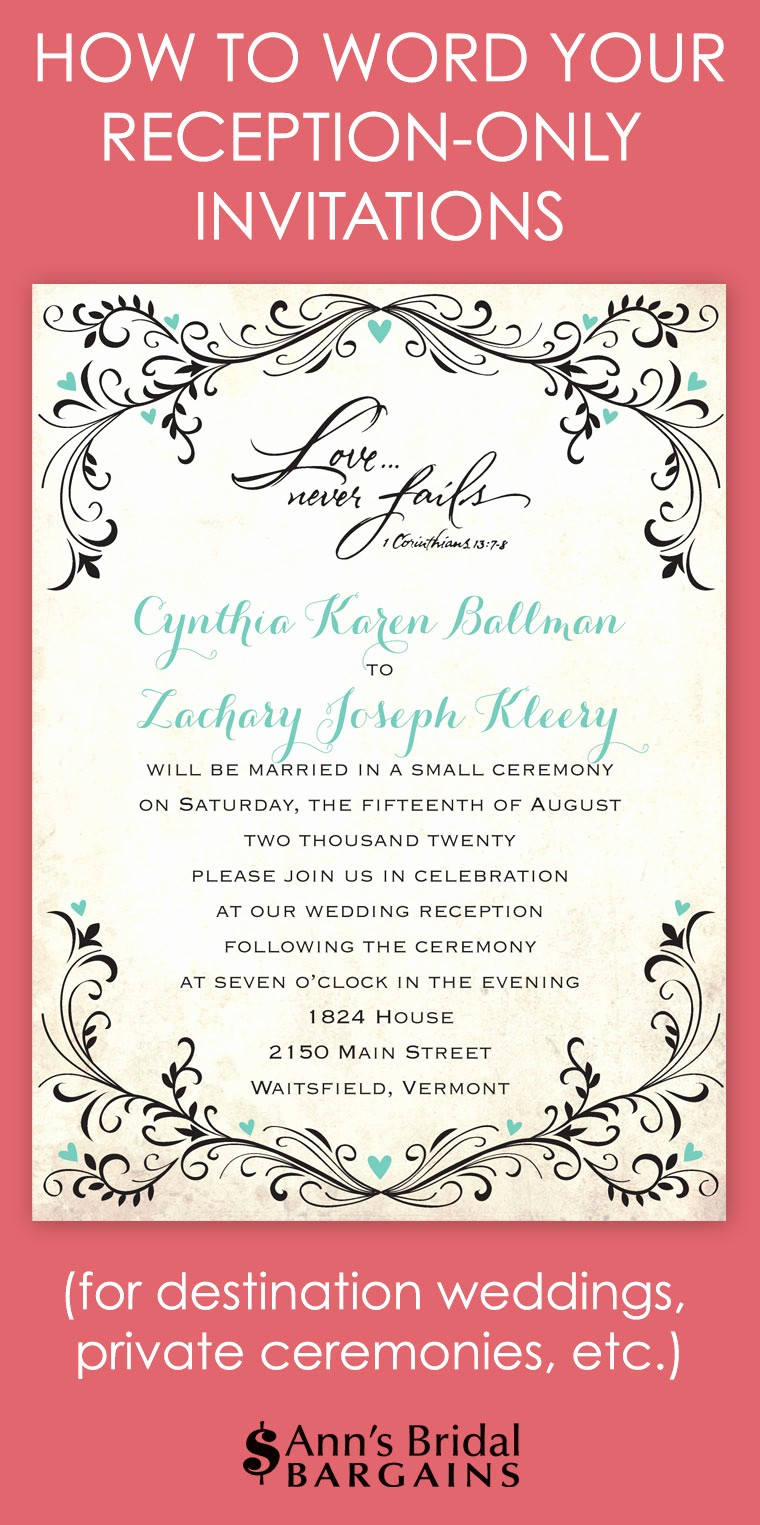 You Re Invited Template Word New How to Word Your Reception Ly Invitations