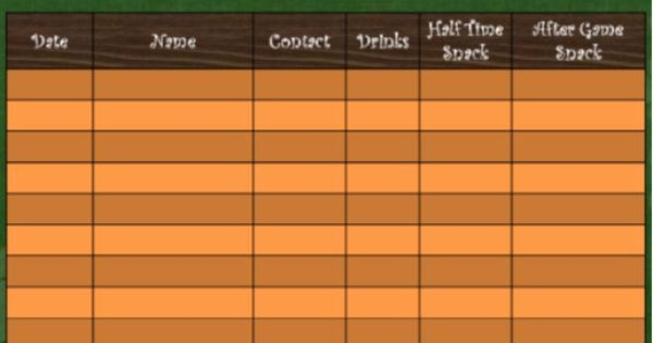 Youth Sports Snack Schedule Template Elegant This is A Template to Use for soccer Snack Scheduling the