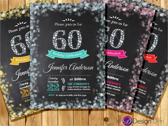 60th Birthday Invitations Template Awesome 26 60th Birthday Invitation Templates – Psd Ai