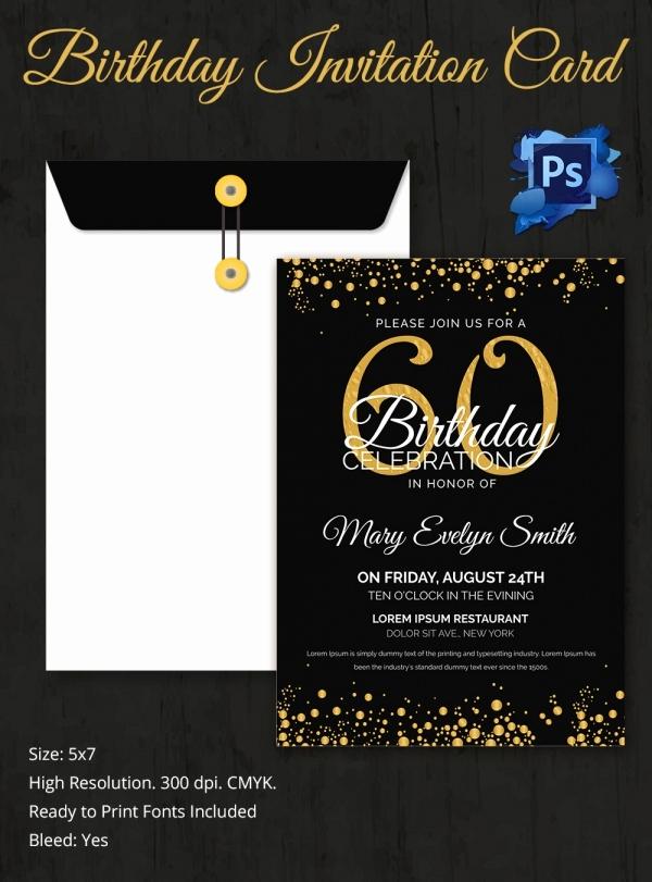 60th Birthday Invitations Template Awesome Birthday Invitation Template 32 Free Word Pdf Psd Ai