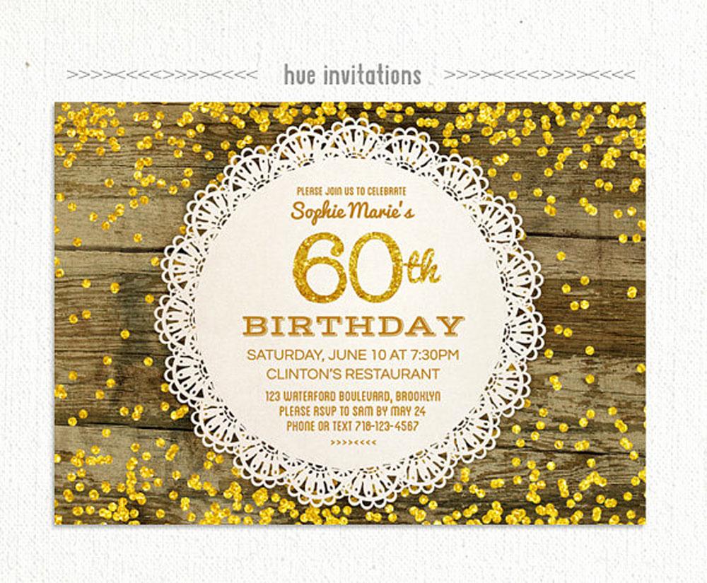 60th Birthday Invitations Template Beautiful 20 Ideas 60th Birthday Party Invitations Card Templates