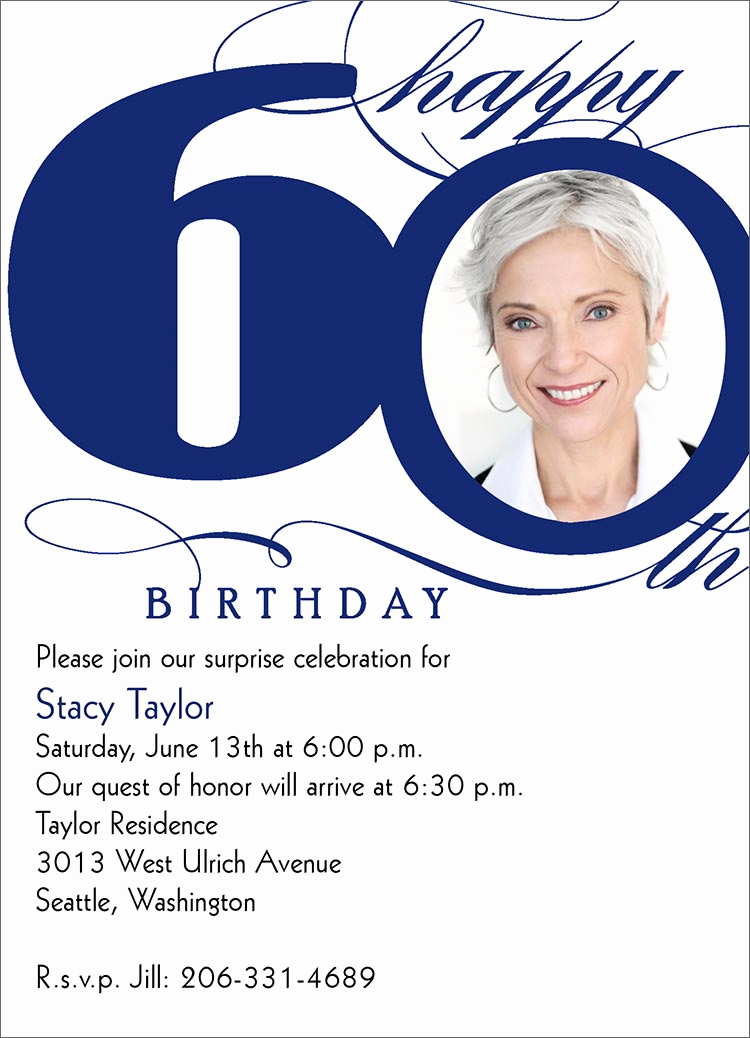 60th Birthday Invitations Template Beautiful 60th Birthday Invites – Free Printable Birthday Invitation