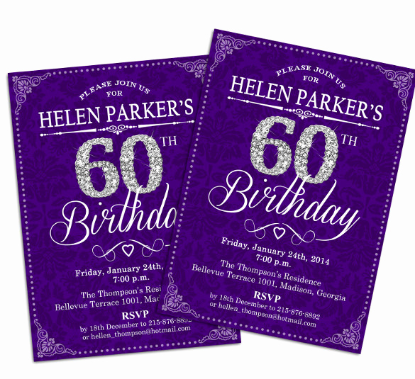 60th Birthday Invitations Template Best Of 28 60th Birthday Invitation Templates Psd Vector Eps