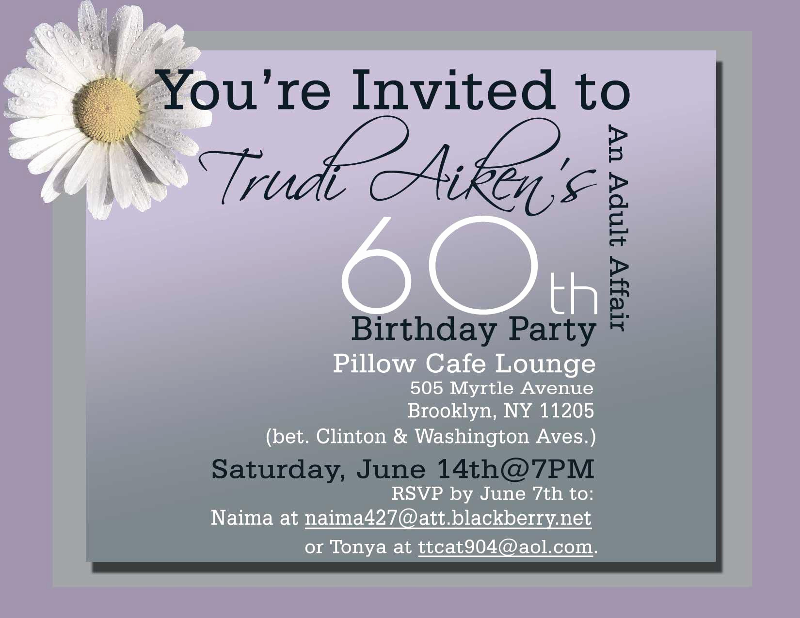 60th Birthday Invitations Template Best Of 60th Birthday Invitations Free