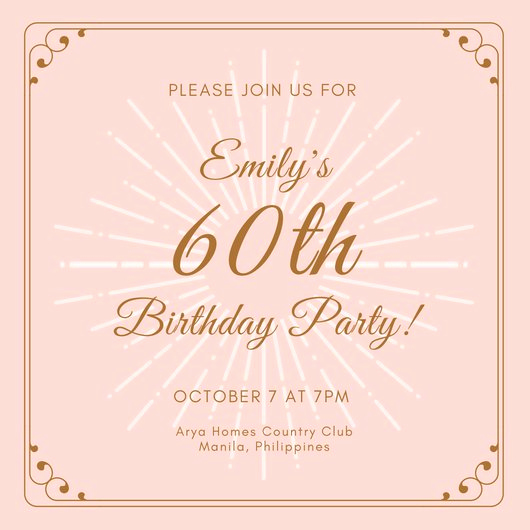 60th Birthday Invitations Template Best Of Customize 986 Invitation Templates Online