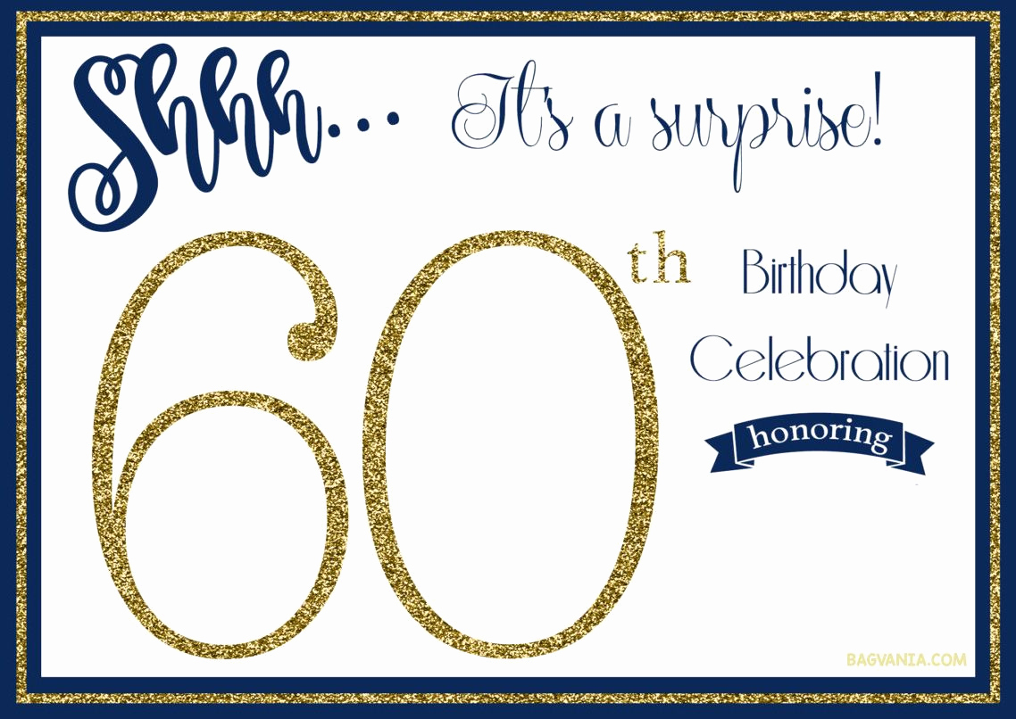60th Birthday Invitations Template Best Of Free Printable 60th Birthday Invitation Templates