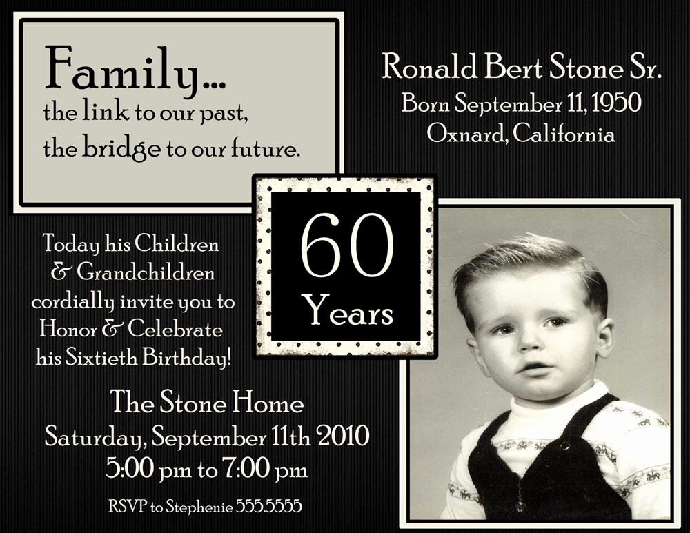 60th Birthday Invitations Template Elegant 20 Ideas 60th Birthday Party Invitations Card Templates