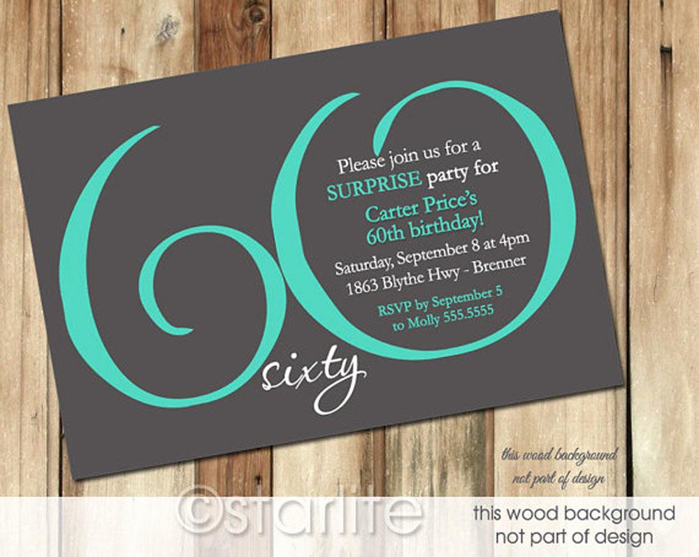 60th Birthday Invitations Template Fresh 20 Ideas 60th Birthday Party Invitations Card Templates