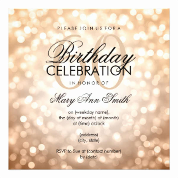60th Birthday Invitations Template Fresh Birthday Invitation Templates In Pdf