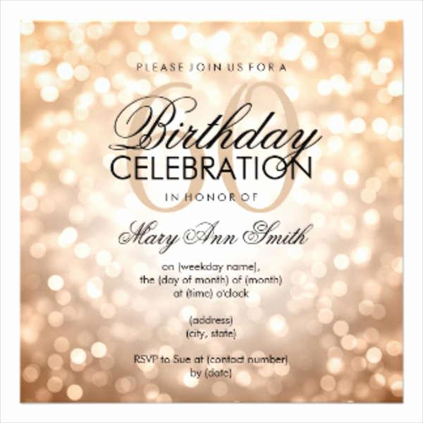 60th Birthday Invitations Template Fresh Birthday Invitation Templates In Pdf