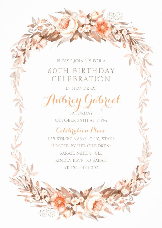 60th Birthday Invitations Template Fresh Luxury 60th Birthday Invitations Archives Superdazzle
