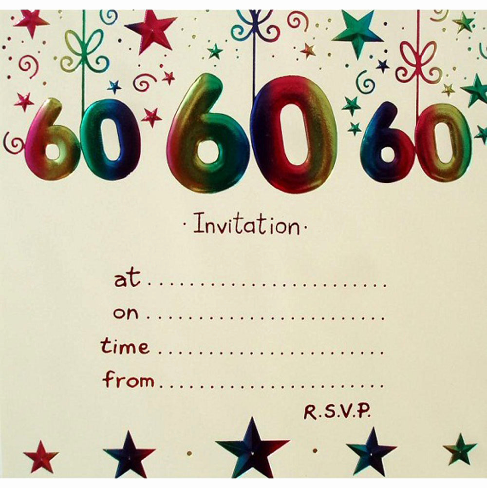 60th Birthday Invitations Template Inspirational 20 Ideas 60th Birthday Party Invitations Card Templates