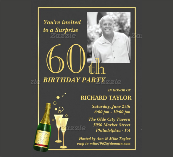 60th Birthday Invitations Template Inspirational 26 60th Birthday Invitation Templates – Psd Ai