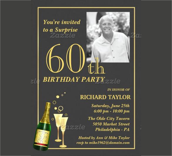 60th Birthday Invitations Template Inspirational 26 60th Birthday Invitation Templates – Psd Ai