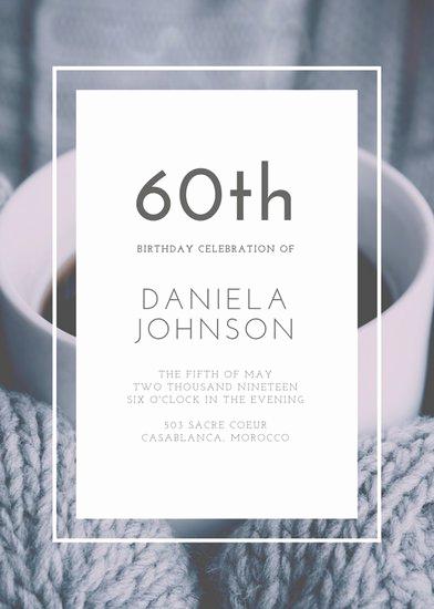 60th Birthday Invitations Template Inspirational Customize 924 60th Birthday Invitation Templates Online