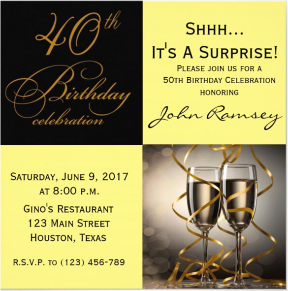 60th Birthday Invitations Template Lovely 14 Surprise Birthday Invitations Free Psd Vector Eps