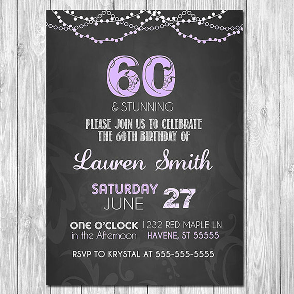 60th Birthday Invitations Template Lovely 20 Ideas 60th Birthday Party Invitations Card Templates
