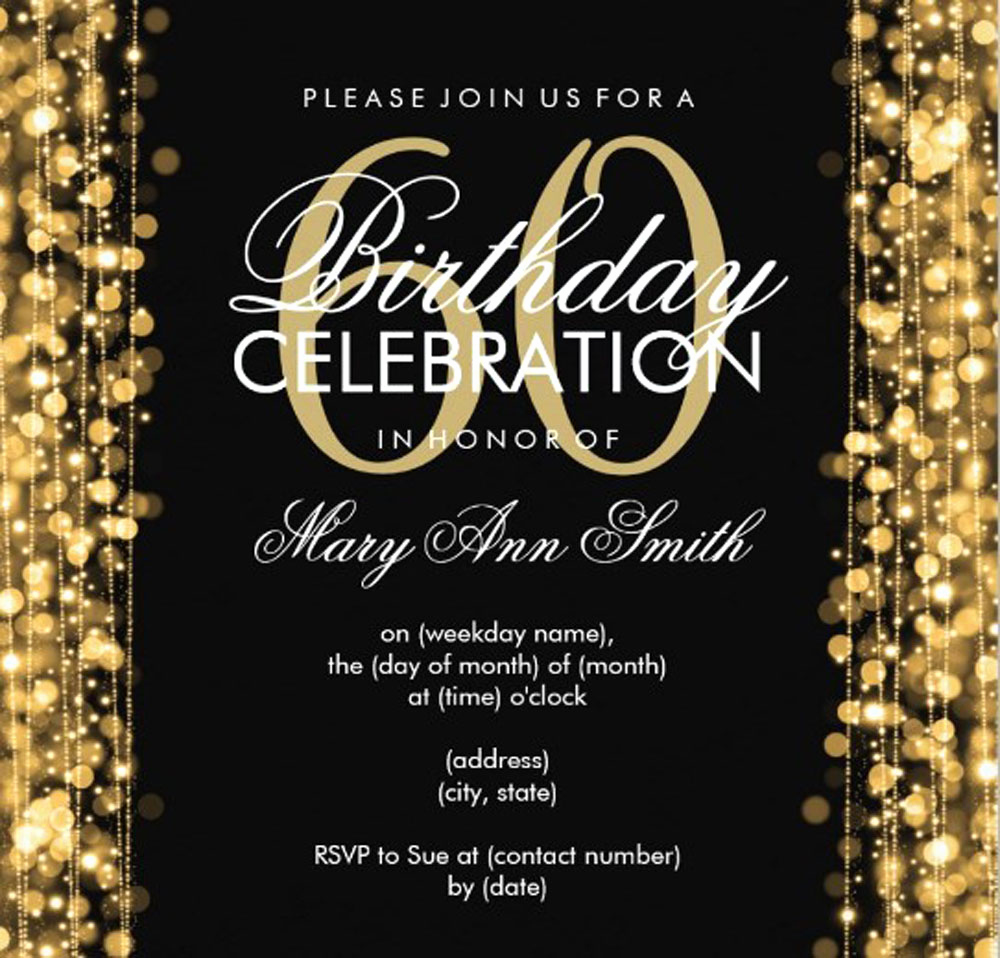 60th Birthday Invitations Template Lovely 20 Ideas 60th Birthday Party Invitations Card Templates