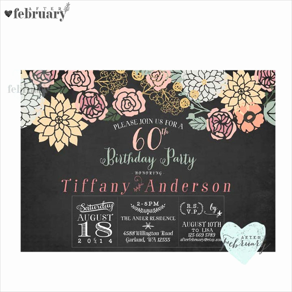 60th Birthday Invitations Template Luxury 26 60th Birthday Invitation Templates – Psd Ai