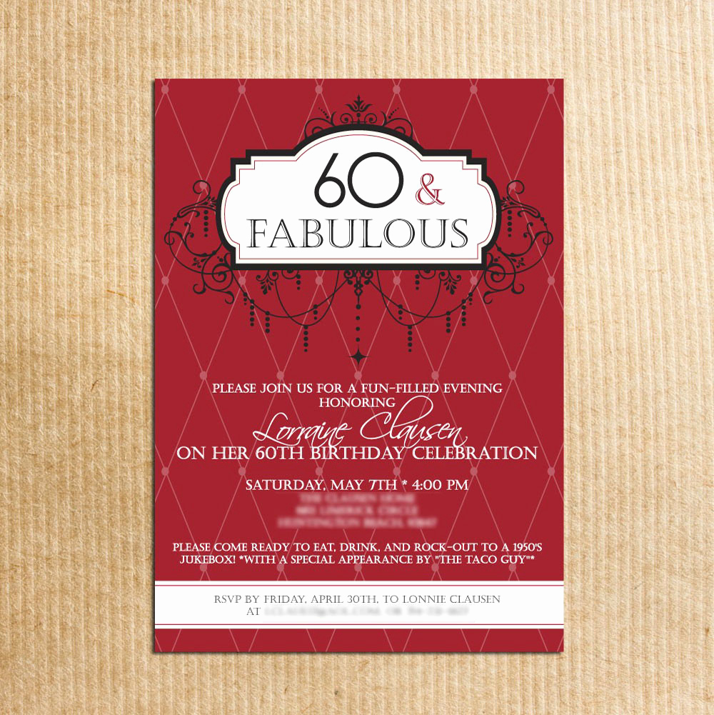 60th Birthday Invitations Template New 20 Ideas 60th Birthday Party Invitations Card Templates