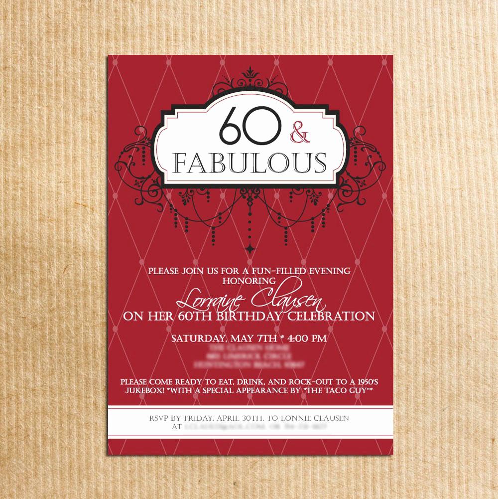 60th Birthday Invitations Template New 20 Ideas 60th Birthday Party Invitations Card Templates