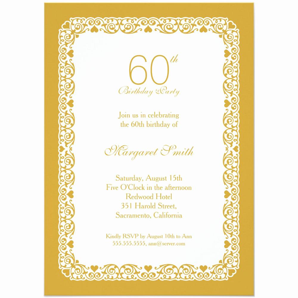 60th Birthday Invitations Template Unique 20 Ideas 60th Birthday Party Invitations Card Templates