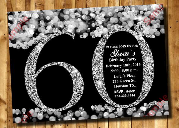 60th Birthday Invitations Template Unique 28 60th Birthday Invitation Templates Psd Vector Eps