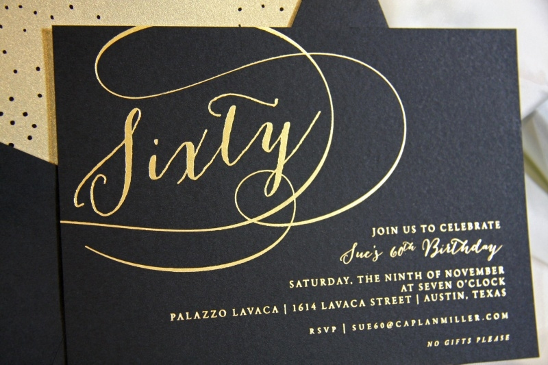 60th Birthday Invite Templates Awesome 10 Elegant Birthday Invitations Ideas – Wording Samples