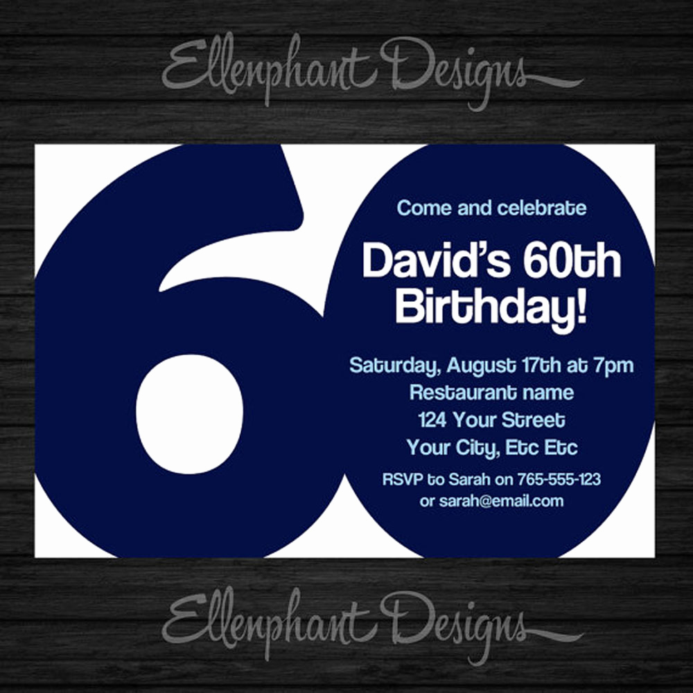 60th Birthday Invite Templates Awesome 20 Ideas 60th Birthday Party Invitations Card Templates