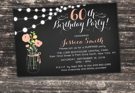 60th Birthday Invite Templates Awesome Bridal Shower Invitation Templates Surprise 60th Birthday