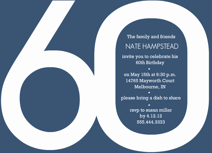 60th Birthday Invite Templates Awesome Template 60th Birthday Invitation