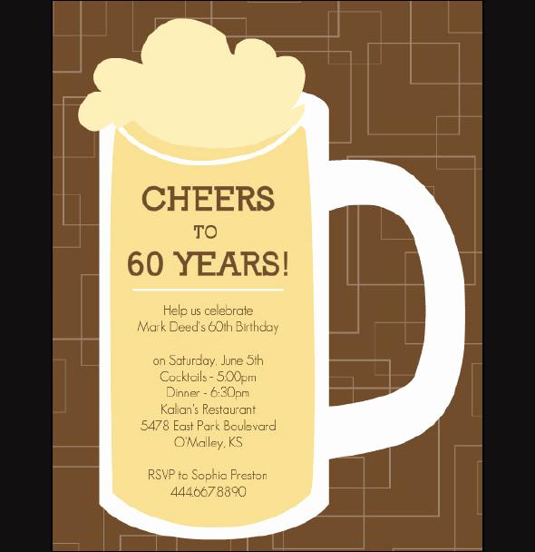 60th Birthday Invite Templates Beautiful 50 Printable Birthday Invitation Templates