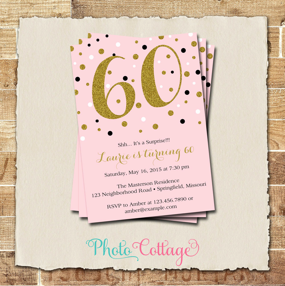 60th Birthday Invite Templates Best Of 20 Ideas 60th Birthday Party Invitations Card Templates