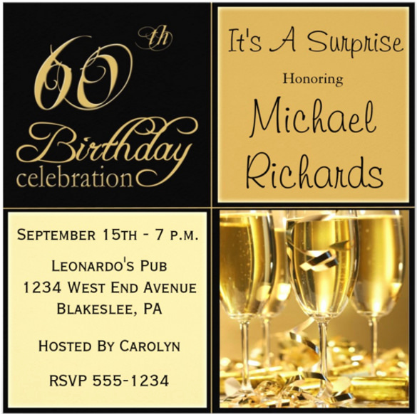 60th Birthday Invite Templates Elegant 28 60th Birthday Invitation Templates Psd Vector Eps