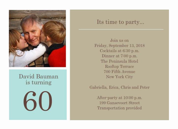 60th Birthday Invite Templates Elegant 40th Birthday Ideas 60th Birthday Party Invitation