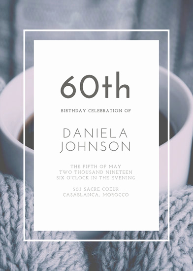 60th Birthday Invite Templates Elegant Customize 924 60th Birthday Invitation Templates Online