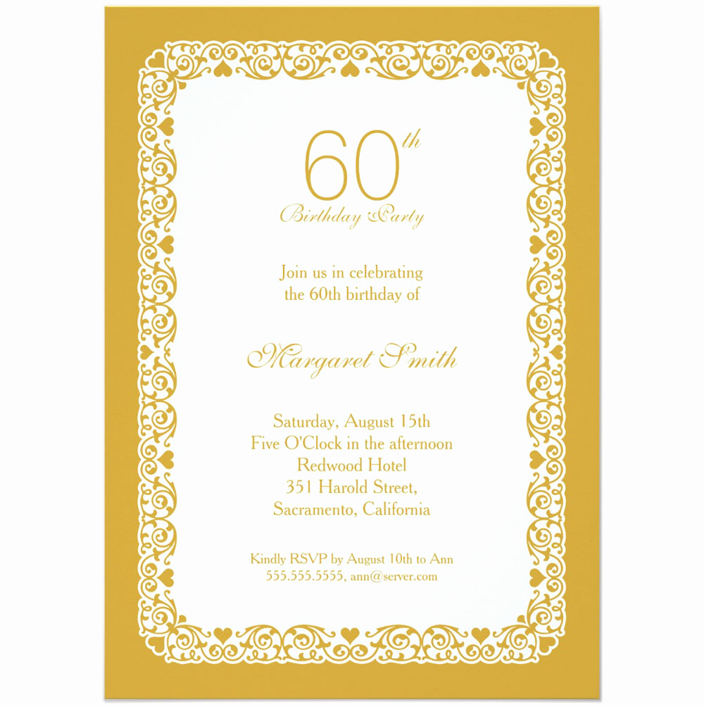 60th Birthday Invite Templates Fresh 20 Ideas 60th Birthday Party Invitations Card Templates