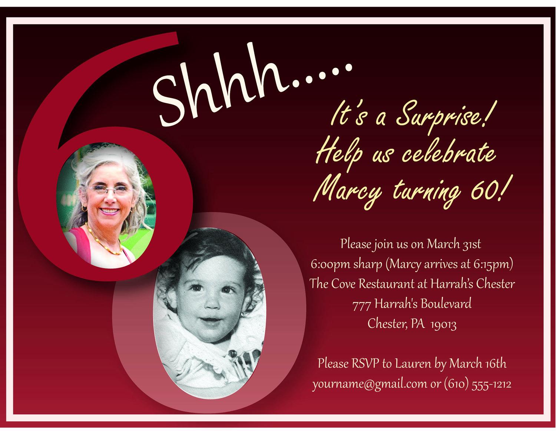60th Birthday Invite Templates Fresh 40th Birthday Ideas Birthday Invitation Templates 60th
